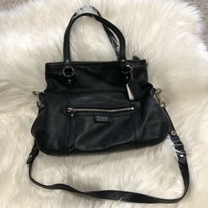 Coach Daisy Black Leather Mia Bag Shoulder Strap